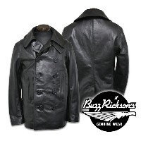 """【Buzz Rickson's バズリクソンズ】ジャケット(レザーコート)/BR80420 WILLIAM GIBSON COLLECTION """"TYPE PEA COAT HOSE HIDE"""" ..."""