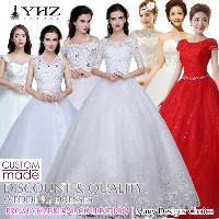 Discount Wedding Dress Ivory Wedding Gown Plus Size Tailor-Made Bridal Gowns Red Bridal Dresses Chea
