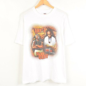 rock the mc fest 2003 JAY-Z AND 50CENT バンドTシャツ メンズXL anvil /wab9986 【中古】 【170520】