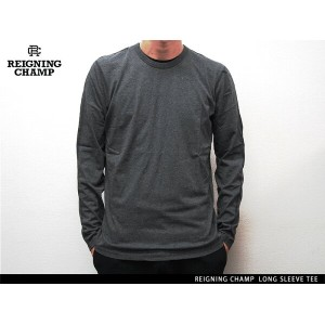 """Handcrafted in Canada"" REIGNING CHAMP LONG SLEEVE TEE HEATHER CHARCOAL レイニング チャンプ ロングスリーブ ティー ヘザー..."