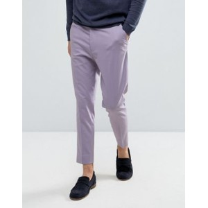 ASOS エイソス Tapered Smart Trousers パンツ In Lilac