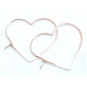 chibi jewels/チビジュエルズ/Hammered Heart Hoop Earrings/small