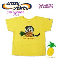Crazy Shirts(クレイジーシャツ)-Womens- S/S Scoope Neck Tee @PINEAPPLE DYED[2008660] CATNAPPLE クリバンキャット 半袖...
