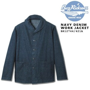 BUZZ RICKSON'S(バズリクソンズ) NAVY DENIM WORK JACKET BR12744_421)A/NAVY