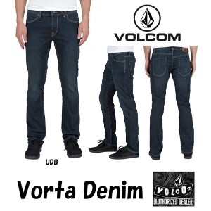 VOLCOM DENIM JEANS/ ボルコム デニム 【Vorta Denim】【UDB】SLIM STRAIGHT FITVOLCOMJAPAN正規品