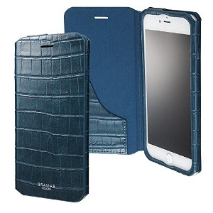 """GRAMAS COLORS """"EURO Passione 3"""" Leather Case for iPhone 7/7 Plus (iPhone 7 Plus, Navy) GRAMAS..."""