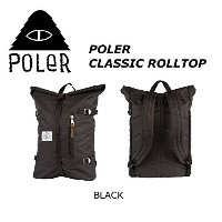 POLER CAMPING STUFF 【CLASSIC ROLLTOP】COLOR;BLACK RETRO ROLLTOP ポーラー クラッシック ロールトップ