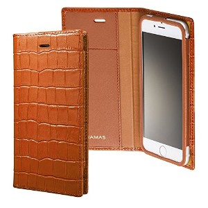 <iPhone 6s対応> GRAMAS Crocodile Patterned Full Leather Case for iPhone 6 LC815TA (Tan) GRAMAS...