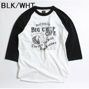WEST RIDE(ウエストライド) UNDER TEE【17-01】アンダーTシャツ【ON THE ROAD AGAIN】≪BIG CHIEF CAFÉ≫両面プリント7分-Tee
