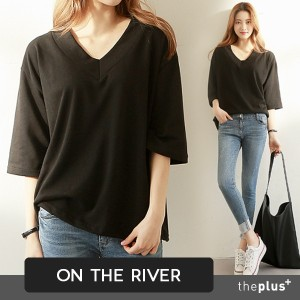 ★ontheriver★ SUPER SALE!! ★ V-neck Top / High Quality / Good Material / Korean Fashion / T-shirts
