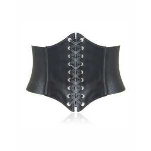 [アメリカ直送] [ベルト] HOTER Lace-up Corset Style Elastic Cinch Belt-