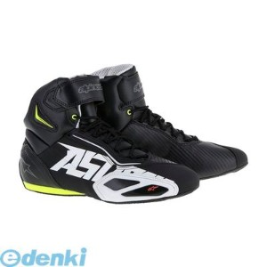 アルパインスターズ(alpinestars) [8021506607298] FASTER 2 SHOES 1053 BLACK WHITE YELLOW FLUO RED サイズ:10【送料無料】