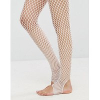 ASOS エイソス Stirrup Fishnet Tights In White
