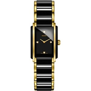 ラドー Rado Integral Jubile Two-tone Black Ceramic and Gold Womens Watch - R20845712 女性 レディース 腕時計 ...