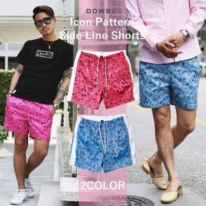DOWBL/ダブル/Icon Pattern Side Line Shorts【全2色】