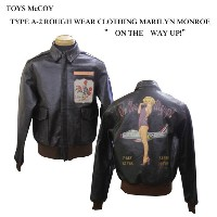 """TOYS McCOY (トイズマッコイ)""""ON THE WAY UP!""""TYPE A-2 ROUGH WEAR CLOTHING MARILYN MONROETMJ1516「P」フライトジャケット..."""