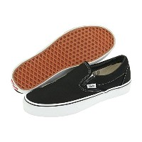 (バンズ) VANS 靴・シューズ レディーススニーカー Vans Classic Slip-On Core Classics Black (Canvas) Men's 5, Women's 6.5...