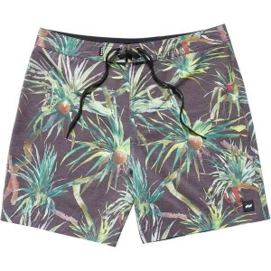 バンクス メンズ 水着 水着 BANKS Pandanus Board Short - Men's Dirty Black