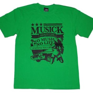【SALE/セール】MUSICK HONEY LIFE S/S Tシャツ (R.GREEN(BLACK))