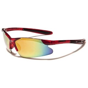 X-loop Kids New Unisex Boys Girls Sports Trending Sleek Sunglasses- Many Colors Available (Red)