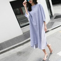 [zoozoom] Ripple check coloring dress 1color / 26629