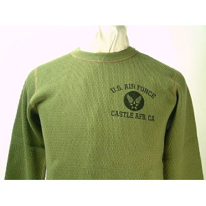 "Buzz Rickson's(バズリクソンズ)Long Sleeve Thermal T-Shirt U.S.AIR FORCE ""CASTLE AFB, CA""送料無料 【smtb-TK】"