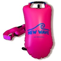 New Wave Swim Buoy – 水泳安全Float for Open水水泳、トライアスロン選手とSnorkelers、Highly VisibleブイFloat forセーフIronman...