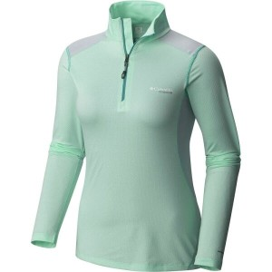 コロンビア Columbia レディース トップス 長袖シャツ【Titan Ice Half Zip Shirt - Long - Sleeve】Sea Ice Heather/Teal