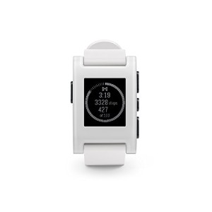 【Pebble Smart Watch for iPhone and Android Devices (White)】 b00kx828dg