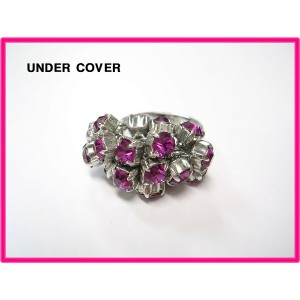 #8 SILVER/PINK【UNDERCOVER RING アンダーカバー リング 指輪 UNDER COVER】シルバー/ピンク【美中古】