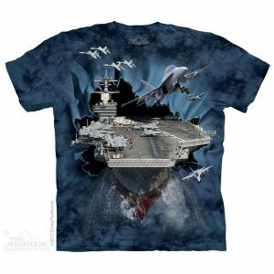 The Mountain Tシャツ Aircraft Carrier (軍隊 航空機 メンズ 男性用 男女兼用 ) XL-4L 【輸入品】 大きいサイズ 半袖