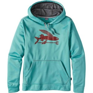 パタゴニア メンズ トップス パーカー【Patagonia Flying Fish Polycycle Hoody】Mogul Blue