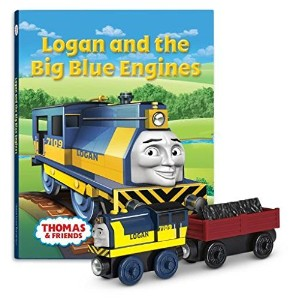 【トーマスとなかまたち 木製レールシリーズ Thomas and Friends Wooden Railway - Logan and the Big Blue Engines Book Pack】...