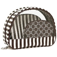 (ヘンリベンデル) Henri Bendel ヘンリベンデル ポーチ Henri Bendel 27941963660193 BROWN & WHITE COSMETIC CASE TRIO SET...