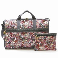 LeSportsac LARGE WEEKENDER 7185 G146 BAMBI AND FRIENDS ラージウィークエンダー レディース ディズニー バンビ コラボ ボストン バッグ...