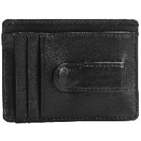 バクストン Buxton メンズ アクセサリー 財布【Dopp Regiment Front Pocket Wallet with Money Clip - Leather 】Black
