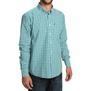 バーブァー Barbour メンズ トップス 長袖シャツ【Bruce Shirt - Tailored Fit, Long Sleeve 】Nevada Green Check