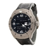 ルミノックス Luminox メンズ アクセサリー 腕時計【XCOR-SXC Pilot Analog Digital Titanium Watch - Leather Strap 】Black...