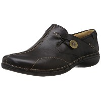 [クラークス] Clarks UN Loop 20312837 Black Leather(Black Leather/UK6.5)