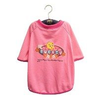 Tシャツ(ハンガー付き) L 小型犬用 WB-TL1 ピンク 5507h