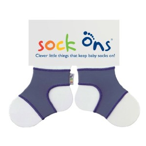 Sock Ons Socks - 6-12 Months, Blueberry by Sock Ons