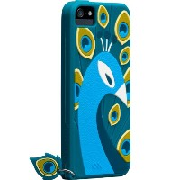 Case-Mate 日本正規品 iPhoneSE / 5s / 5 CREATURES: Peacock Case, Teal クリーチャーズ: ピーコック シリコン ケース, ティール...