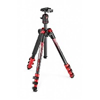 Manfrotto コンパクト三脚 Befree アルミ ボール雲台キットNEWデザイン レッド MKBFRA4RD-BH