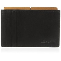 [ジャック・スペード] JACK SPADE カードケース MITCHELL LEATHER FILE WALLET W6RU0121 011 (BLACK / SADDLE)