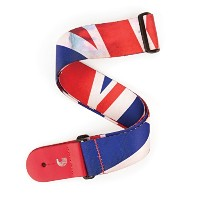 Planet Waves by D'Addario プラネットウェーブス ギターストラップ Bowery Collection Distressed Union Jack Woven...