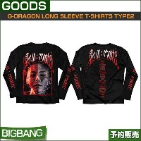 BIGBANG G-DRAGON LONG SLEEVE T-SHIRTS TYPE2 (FREE) / 公式グッズ /YG/日本国内発送/1次予約