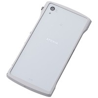 Deff ディーフ CLEAVE Chrono アルミニウムバンパー Xperia Z2 White DCB-XZ2A6WH/A