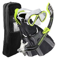 U.S DIVERS(ユーエスダイバーズ) FLARE JR.LX/PIPER/MINNOW/TRAVEL BAG SET BLACK*NEON Ssize 253629
