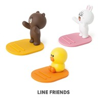 【Line friends】ラインフレンズフィギュアスマホスタンド/Line friends mobile phone figure stand/3種・韓国LINE FRIENDS正品