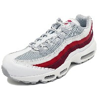 NIKE AIR MAX 95 ESSENTIAL【ナイキ エアマックス95エッセンシャル】white/wolf grey/pure platinum/team red/gym red(ホワイト...